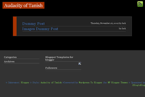 Audacity of Tanish template