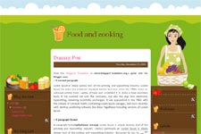 Food and cooking template