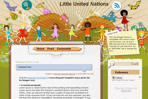 Little United Nations template