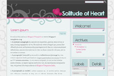 Solitude of Heart template