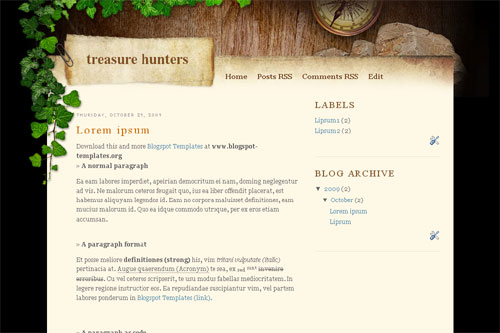 Treasure Hunters template