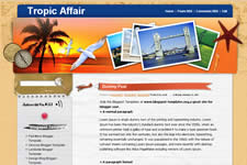 Tropic Affair template